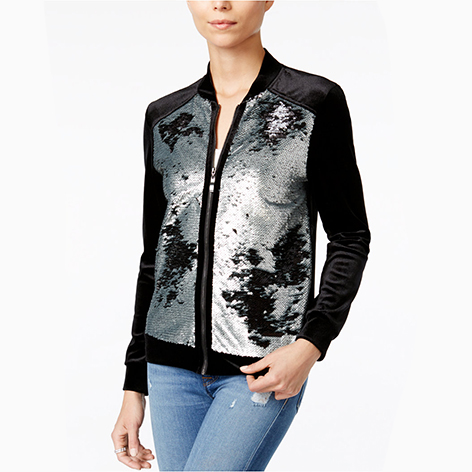 Sequined Velour Jacket…