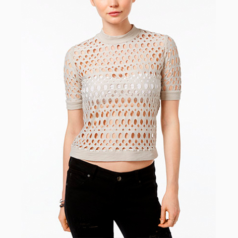 Cutout-Pattern Top