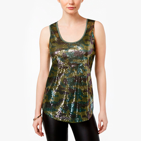 Sequined Camouflage…