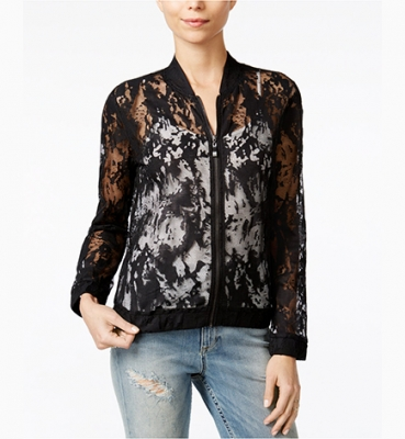 Sheer Lace Bomber…