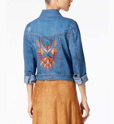 Embroidered Denim…